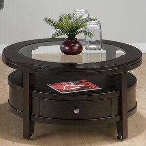 Round Coffee Tables oak round coffee tables you'll love | wayfair