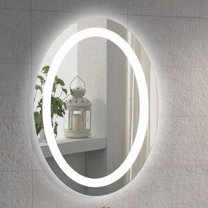 illuminated oval bathroom vanity mirror