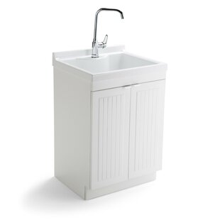 Murphy 24 X 20 5 Free Standing Laundry Sink With Faucet