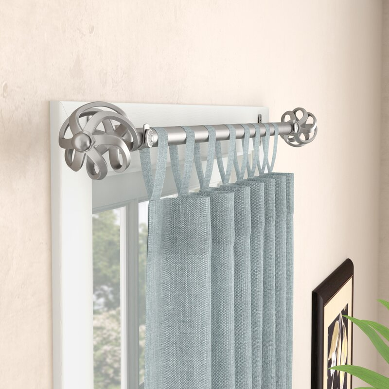 Darby Home Co Marta Single Curtain Rod and Hardware Set