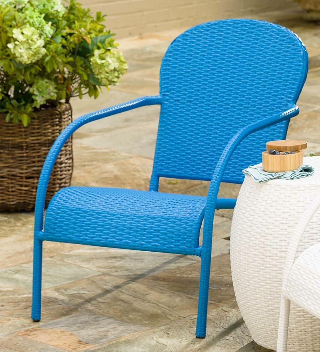 Plow U0026 Hearth Stackable Wicker Patio Chair | Wayfair