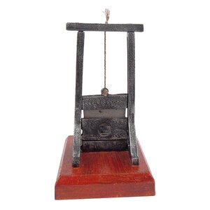 Desk-Sized Guillotine Sculpture