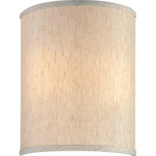 Wall sconce shades youll love wayfair 9 linen drum wall sconce shade by volume lighting aloadofball Image collections