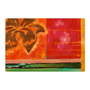 Nathan Gibbs Destination: She Surfs Floral Orange Area Rug