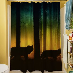 Tracking Wolves Shower Curtain