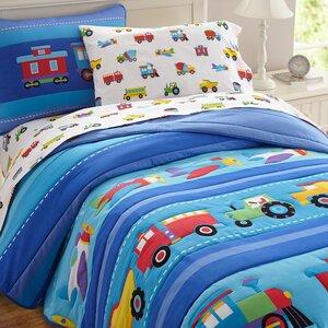 Olive Kids Trains, Planes and Trucks Comforter Set