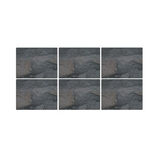 Midnight Slate Placemats Set Of 6