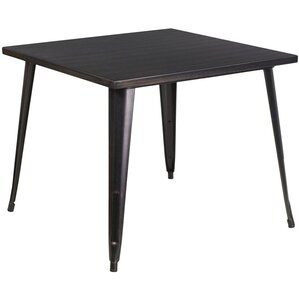Square Metal Indoor/Outdoor Pub Table by Offex