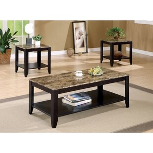granite coffee table. Clary 3 Piece Coffee Table Set Granite B