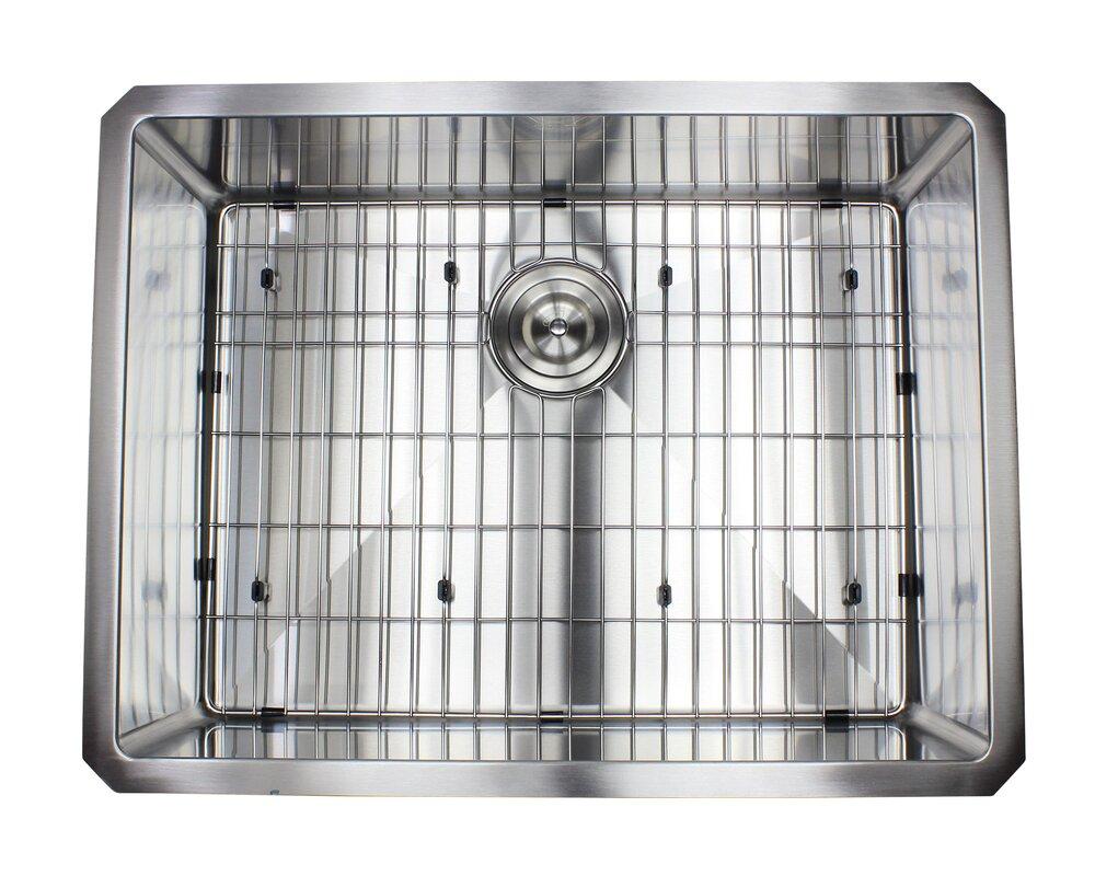Kitchen Sink Grid Stainless Steel Ariel premium stainless steel 26 x 20 undermount kitchen sink with ariel premium stainless steel 26 x 20 undermount kitchen sink with sink grid and workwithnaturefo