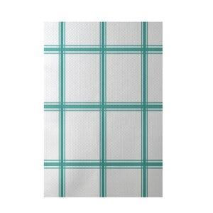 Geometric Aqua Indoor/Outdoor Area Rug
