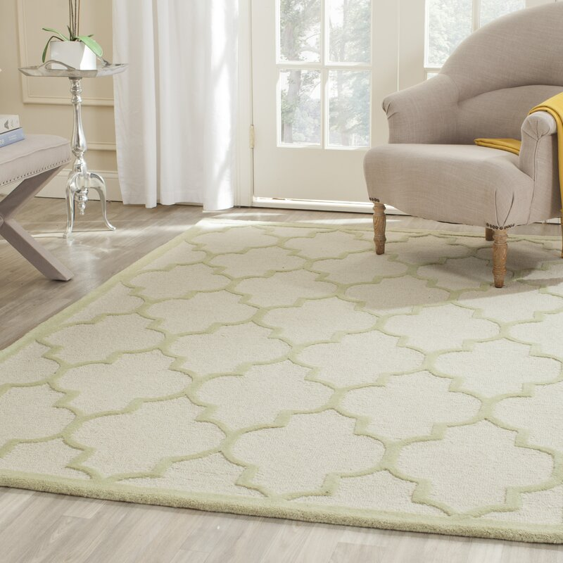 Dalton Hand Tufted Ivory/Light Green Area Rug