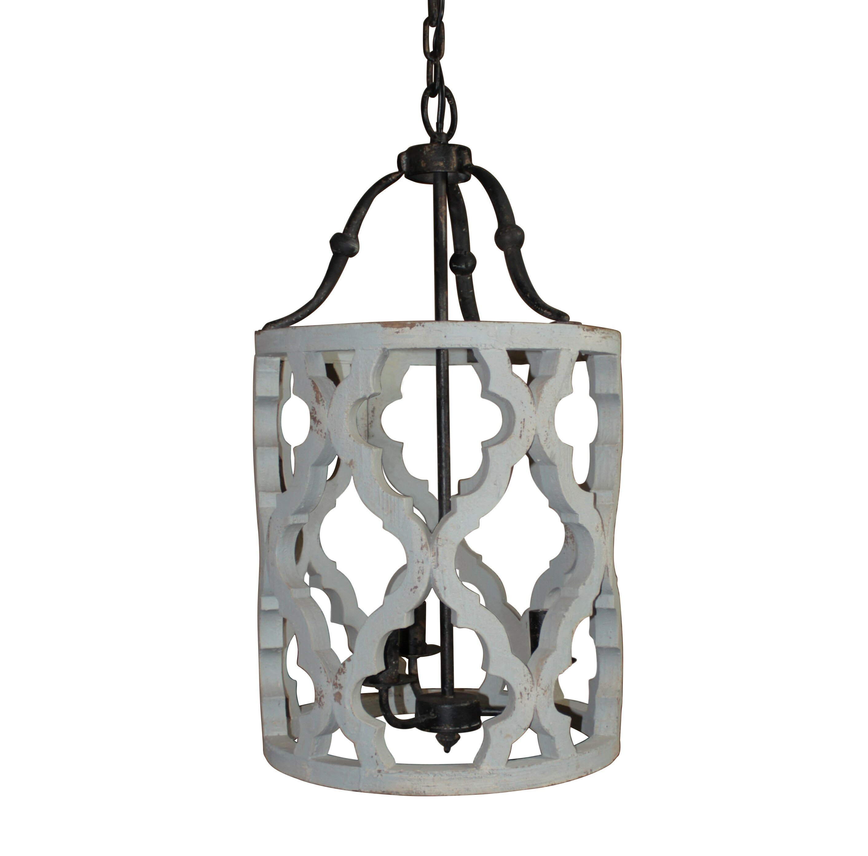 White foyer pendant lighting candle Candle Chandelier Wayfair Gracie Oaks Jamaris 3light Foyer Pendant Reviews Wayfair