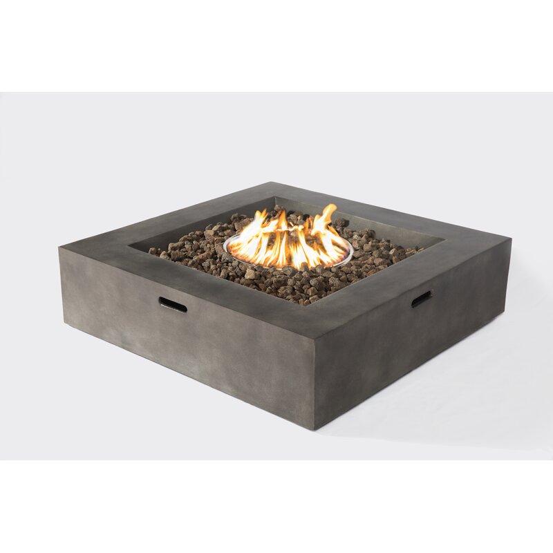 Santiago Concrete Propane Gas Fire Pit Table