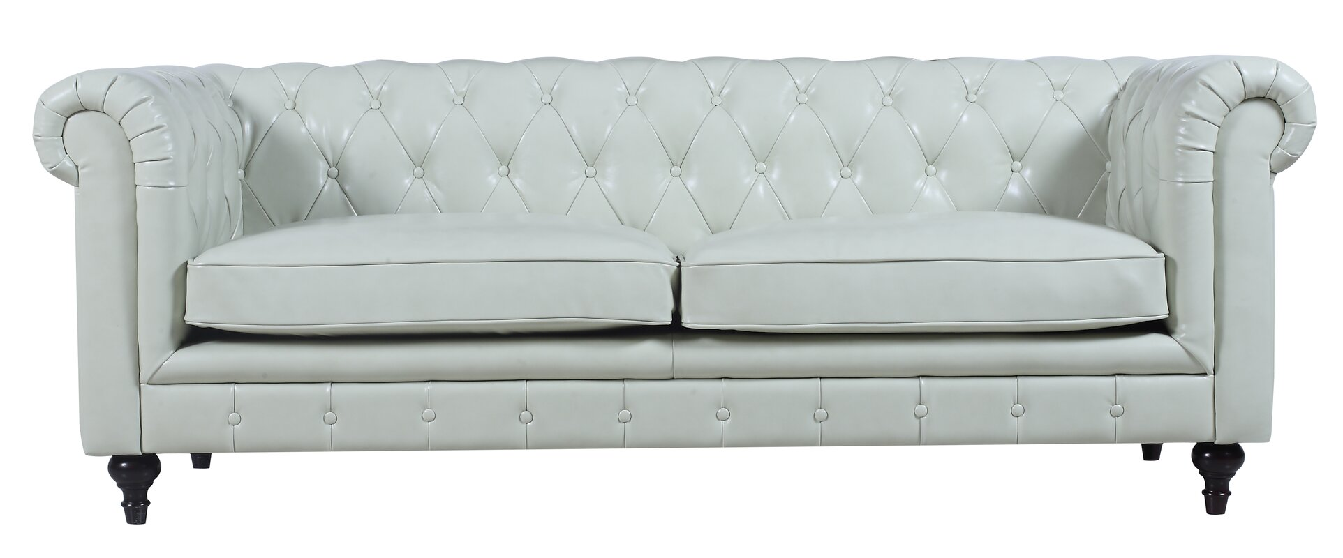 Madison Home USA Tufted Leather Chesterfield Sofa& Reviews Wayfair