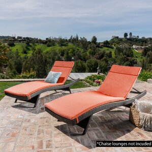 Outdoor Chaise Lounge Cushion (Set of 2) : chaise patio cushions - Sectionals, Sofas & Couches