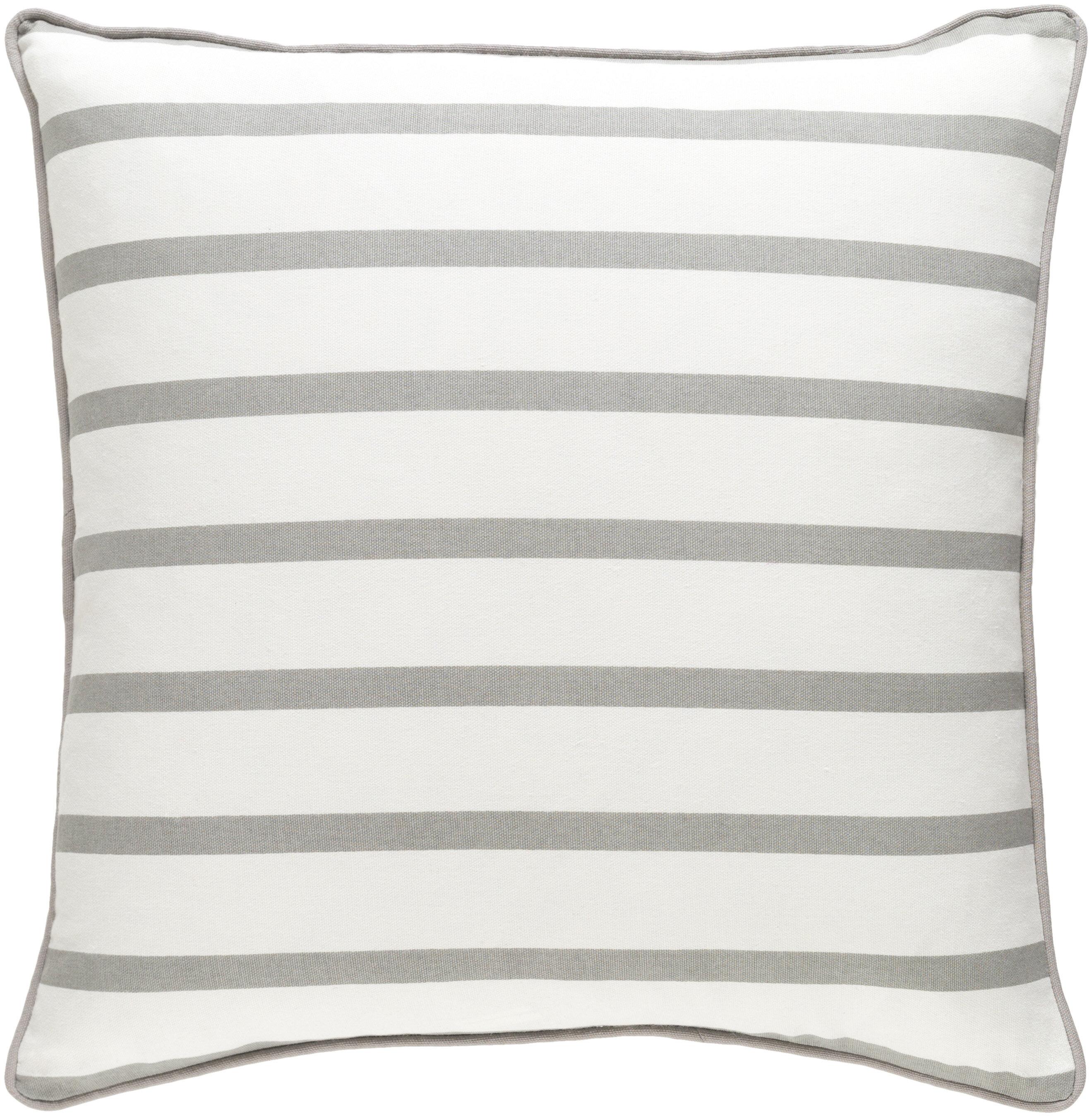 Mercury row carnell contemporary striped cotton throw pillow reviews wayfair