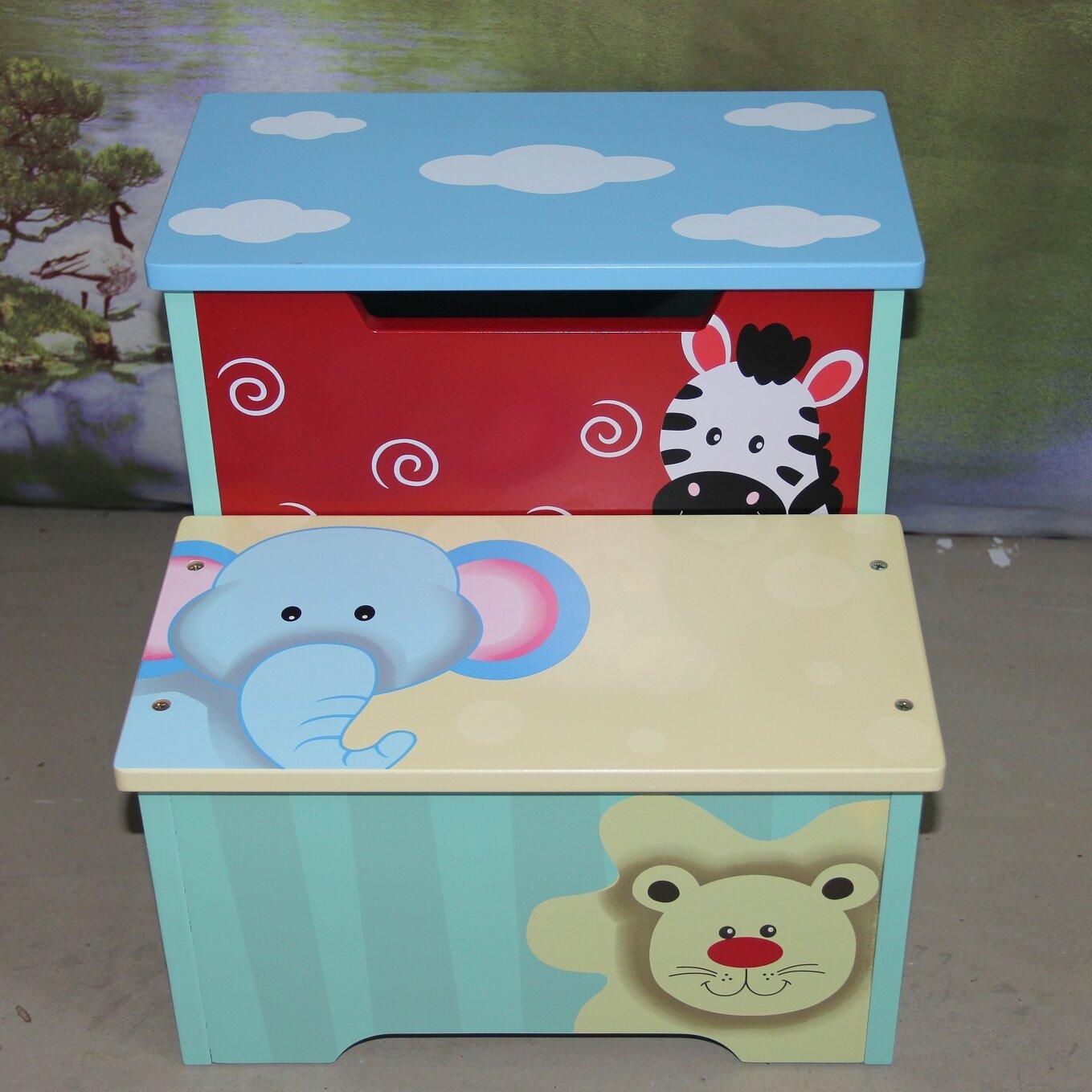 Bellasario Collection Kid\'s Animal Step Stool with Storage | Wayfair