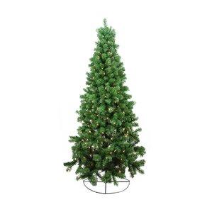 6 rockport pine artificial half wall christmas tree with clear lights - Half Wall Christmas Tree