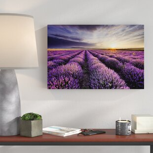 Dreamy Lavender Provence Graphic Art On Canvas