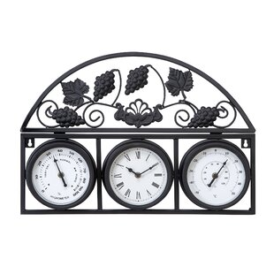 erin outdoor clock with thermometer and hygrometer - Outdoor Clock Thermometer