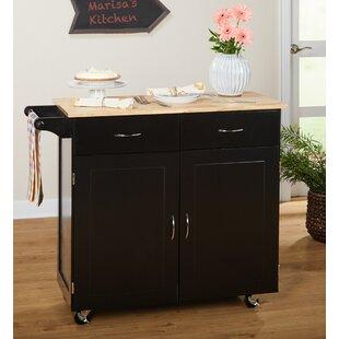 Black Kitchen Islands & Carts You'll Love | Wayfair