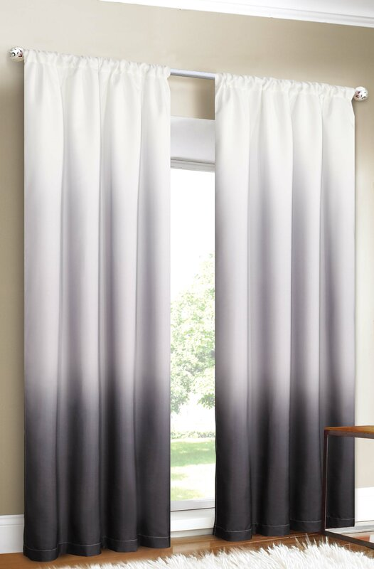 and curtains linen border ombre sheer faux lovely