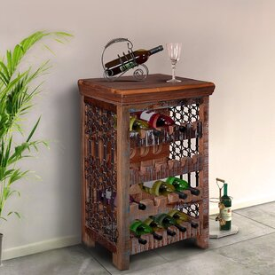 Ascutney Rustic 20 Bottle Floor Wine Rack