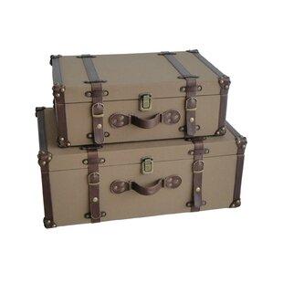 Well-known Vintage Decorative Suitcases   Wayfair DX41