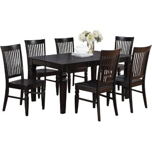 Pennington 5 Piece Wood Dining Set by Beachcrest Home