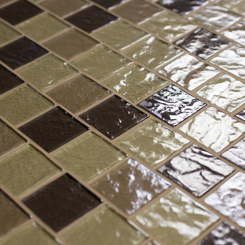 Geo 2 X Gl Mosaic Tile In Light Brown