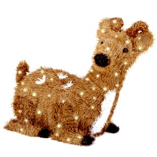 resting reindeer christmas decoration with 100 clear lights - Llama Christmas Decoration