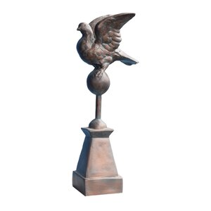 Mourning Dove on Pedestal Statue