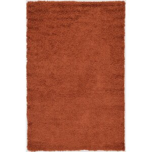 Hand-Woven Rust Orange Area Rug