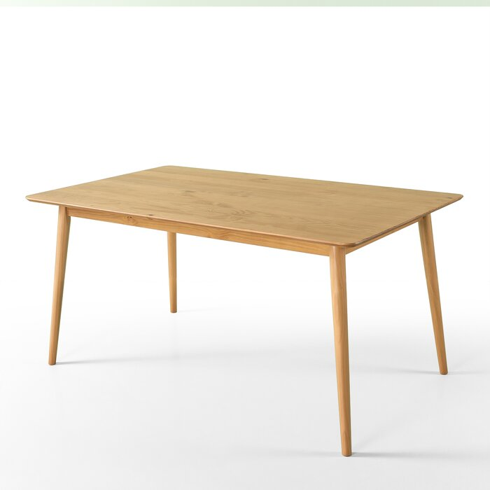 Corrigan Studio Goodyear Mid Century Modern Solid Wood Dining Table