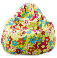 Sitzsack Floral in Limettengrün von In The Mood..