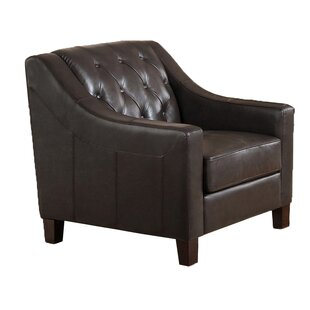Sutton Top Grain Leather Tufted Club Chair