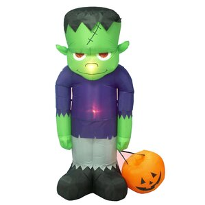 halloween inflatable frankenstein decoration