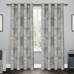 Patchwork Semi Sheer Curtain Panels (Set Of 2)