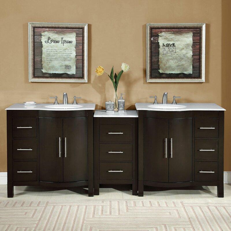89 Double Lavatory Sink Cabinet Bathroom Vanity Set