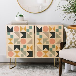 The Old Art Studio Modern Geometric Credenza