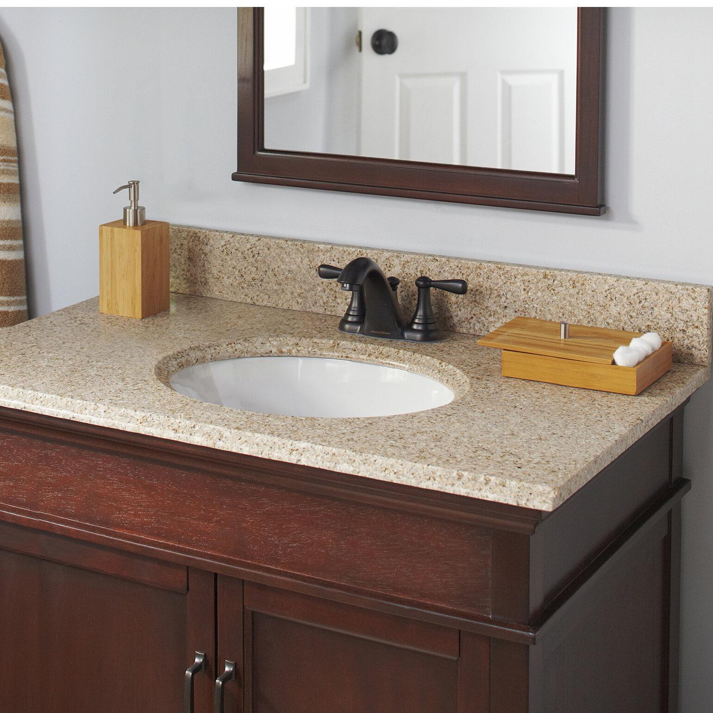 Halsteadinternational Granite 37 Single Bathroom Vanity Top Reviews Wayfair