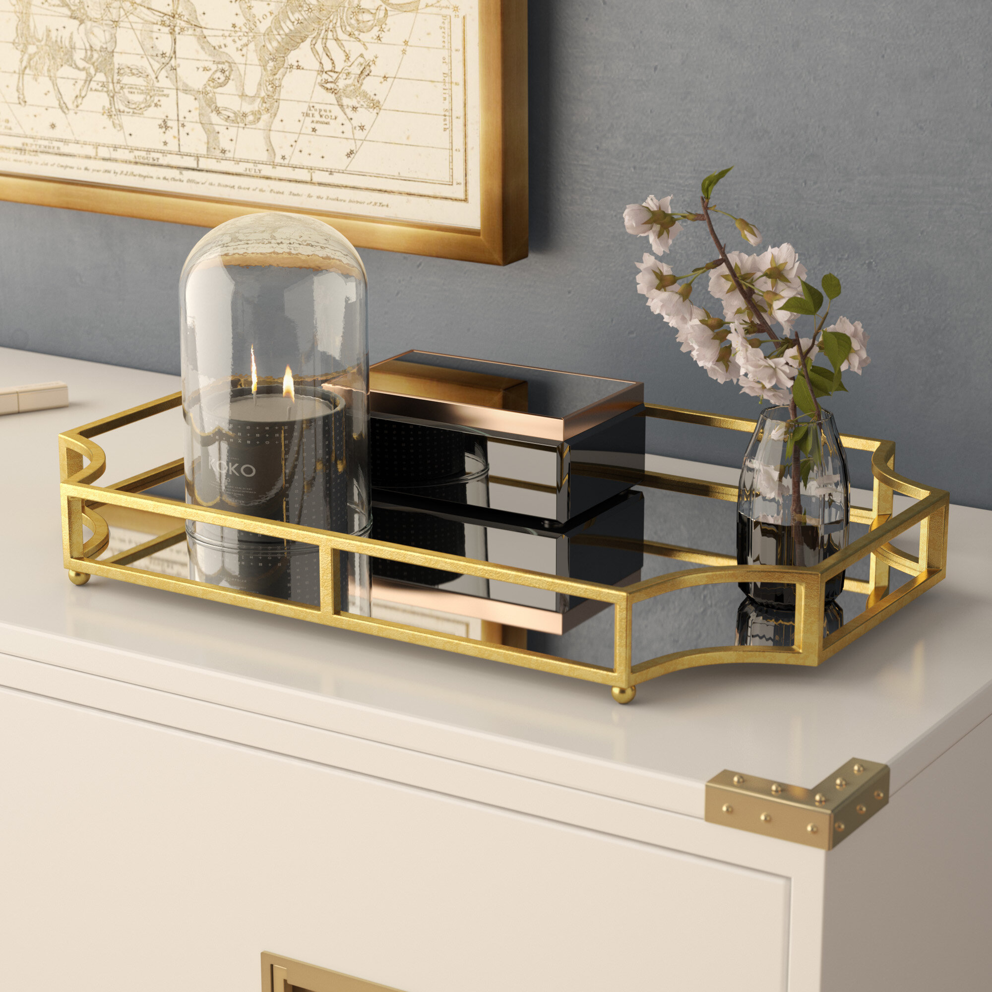desk furniture classy for game tray with to cst home the vanity bling click coaster mirror product b enlarge dresser