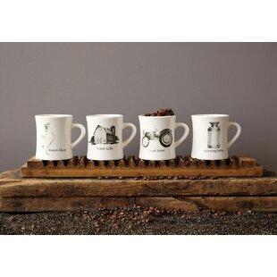 Paynesville Farm Life 4 Piece Teacup Coffee Mug Set Of