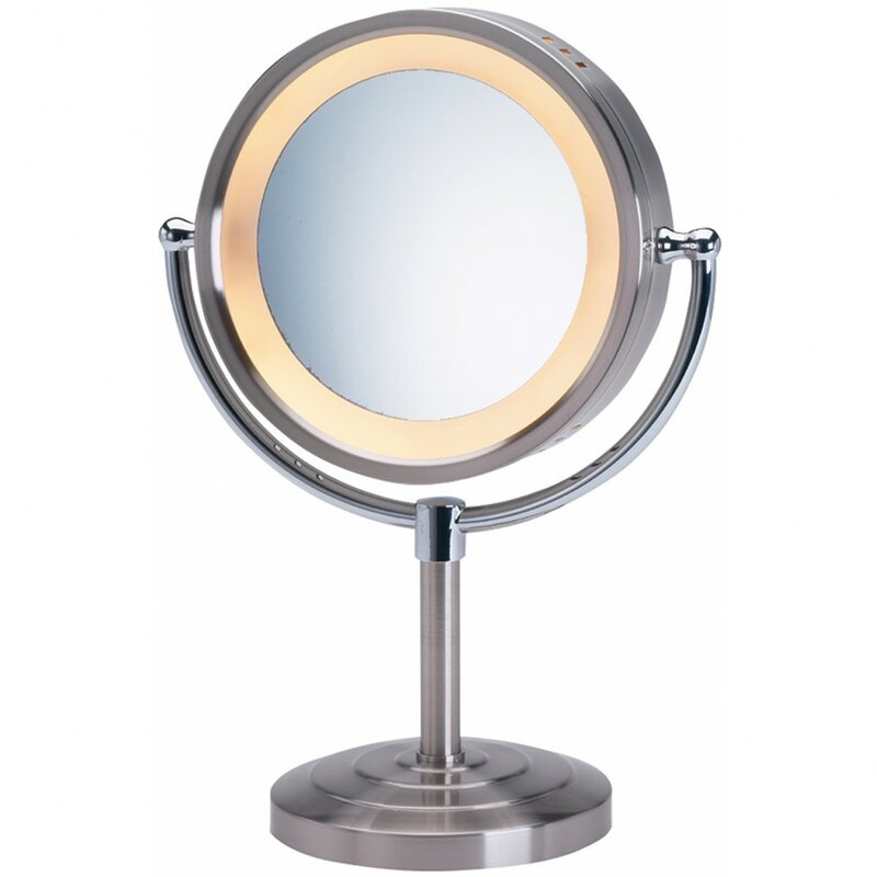 Symple stuff halo lighted tabletop vanity mirror reviews wayfair halo lighted tabletop vanity mirror aloadofball Choice Image