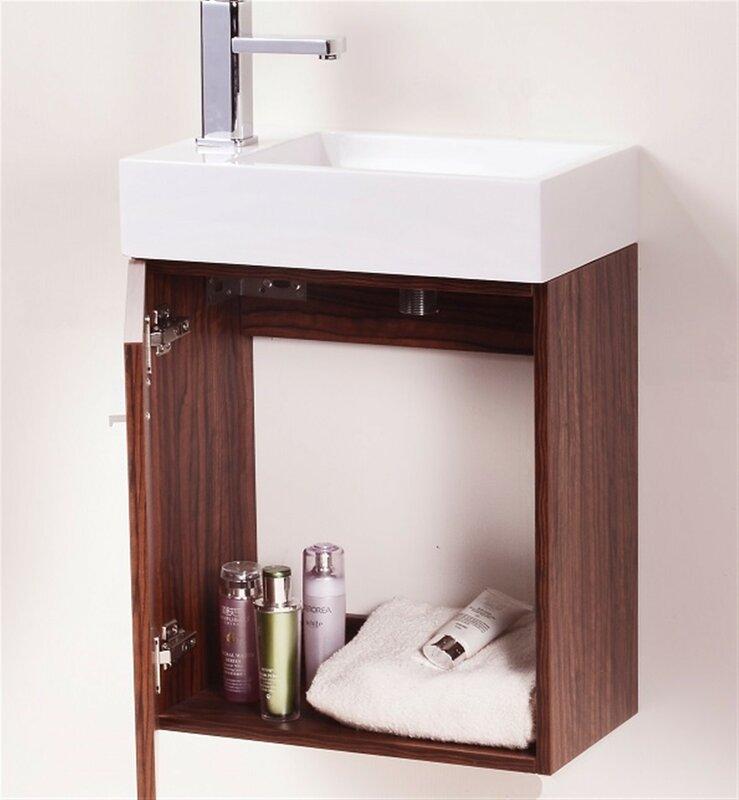 Wade Logan Tenafly 18 Quot Single Wall Mount Modern Bathroom
