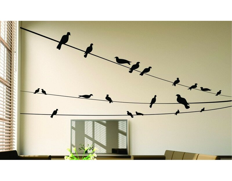 Many Birds Sitting Wall Decal