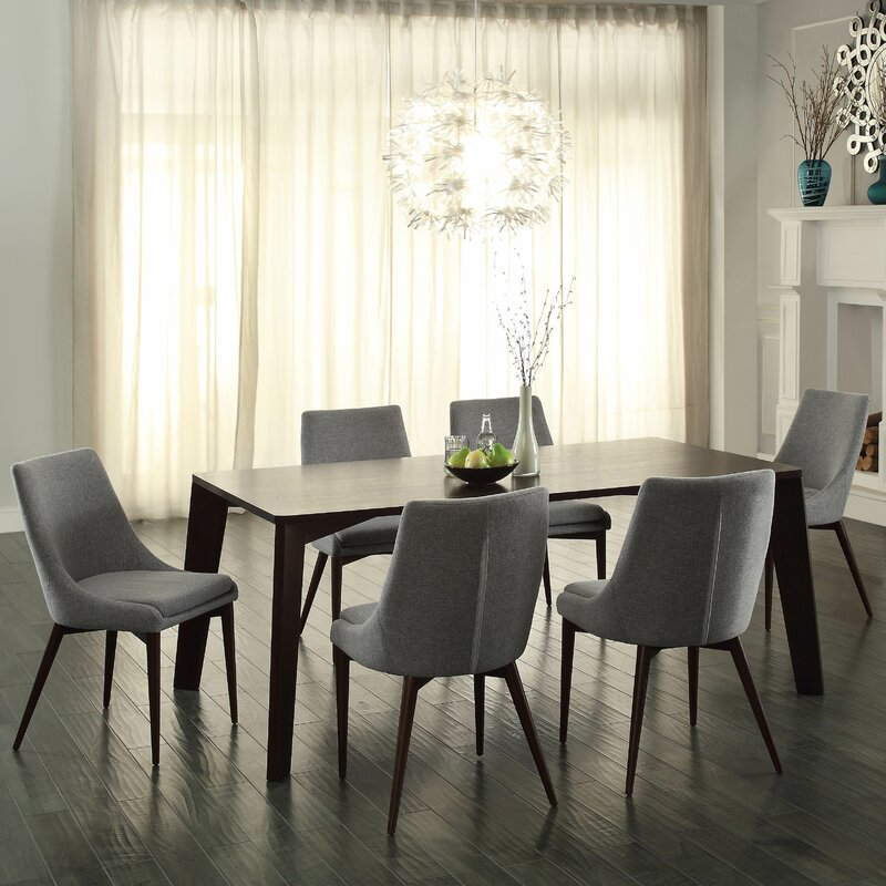 Bergevin 7 Piece Dining Set Amp Reviews Allmodern