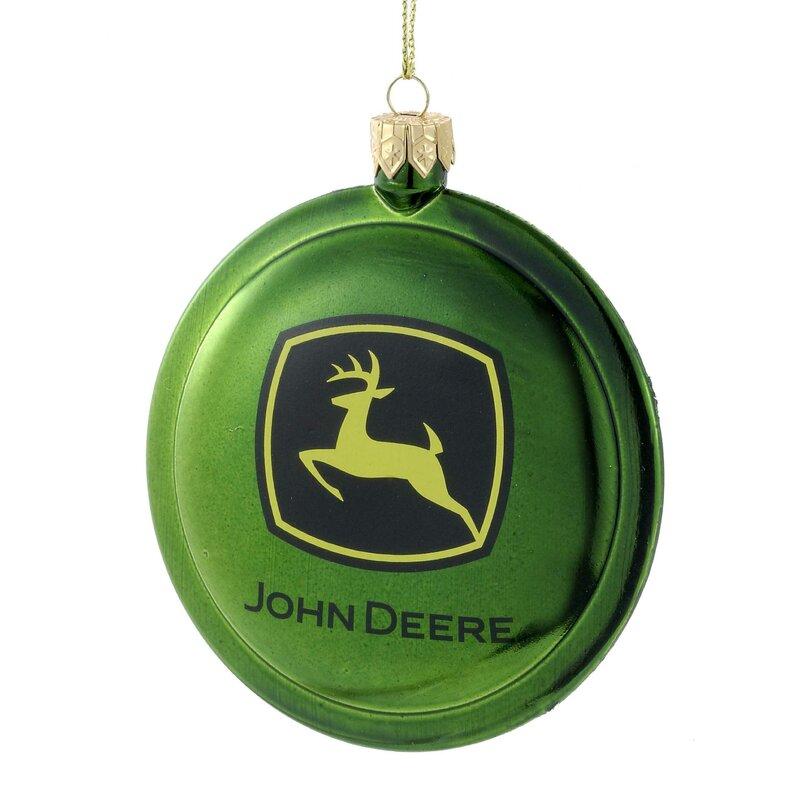 Kurt Adler Shatterproof John Deere Disc Ornament & Reviews | Wayfair