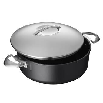 Starfrit 060737-002-0000 Rock 4-Quart Dutch Oven and Bakeware with Lid Black